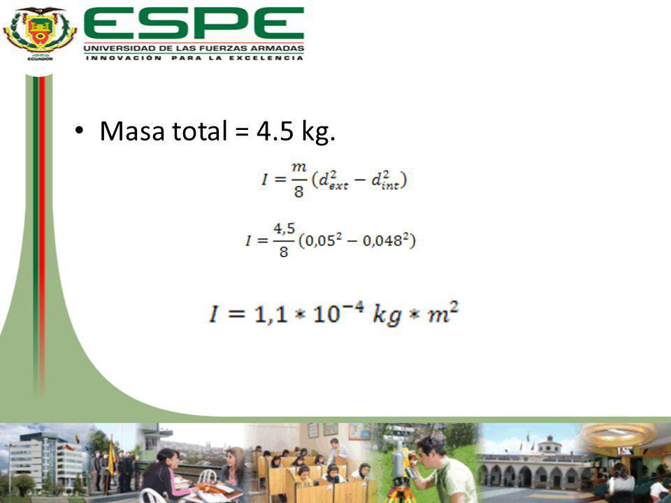 Masa total = 4.5 kg.