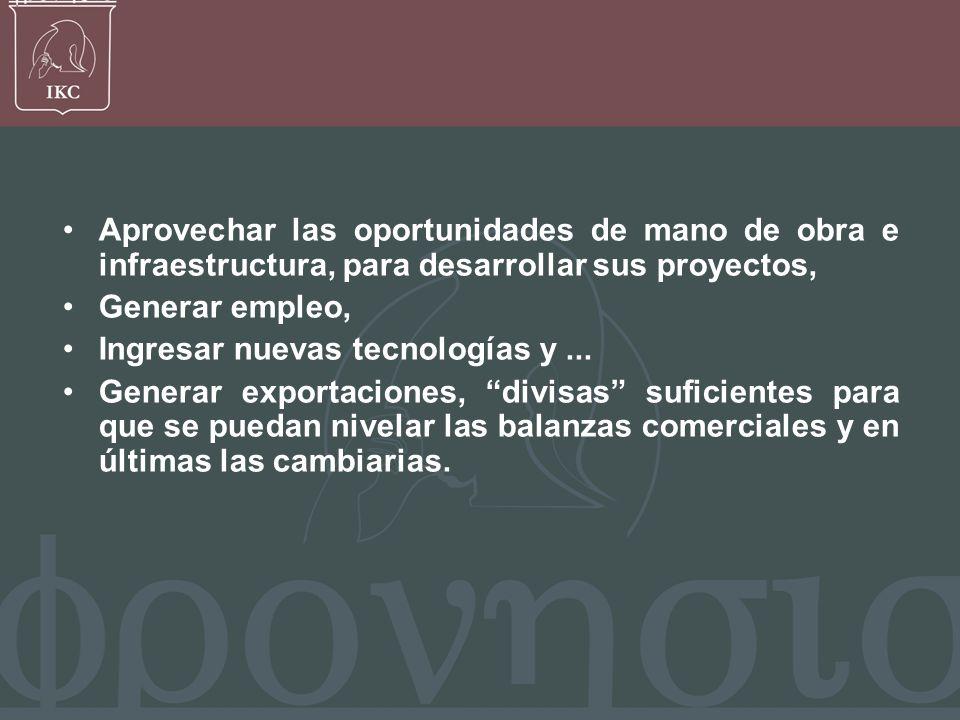 Francisco Javier Bernal V, OPORTUNIDADES Lograr mayores niveles de competencia y productividad.