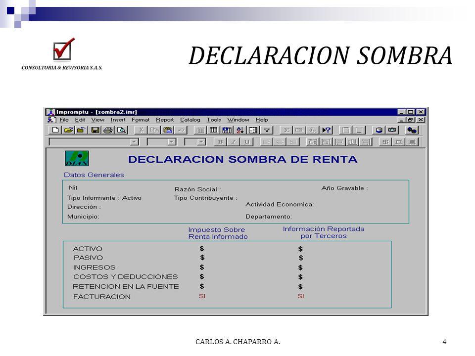 Tips Declaración de Renta 2.012 CARLOS A. CHAPARRO A. 5