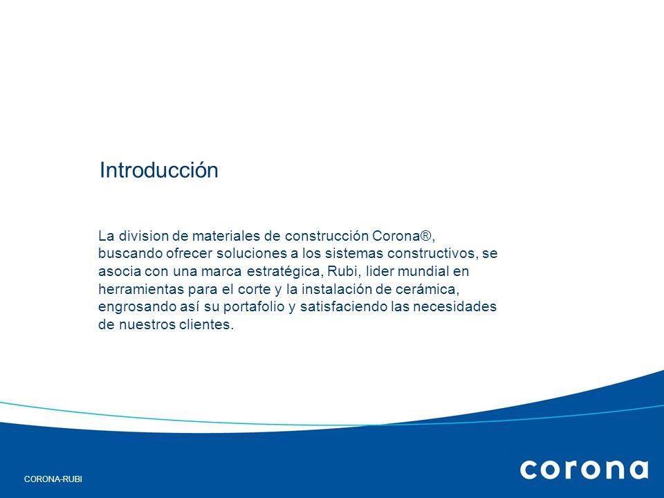 CORONA-RUBI Portafolio y precios por referencia.