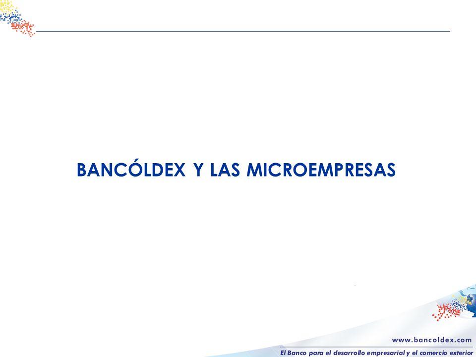 BANCÓLDEX Y LAS MICROEMPRESAS