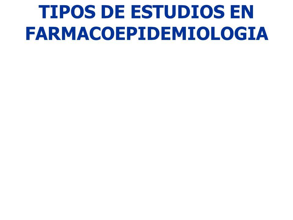 TIPOS DE ESTUDIOS EN FARMACOEPIDEMIOLOGIA