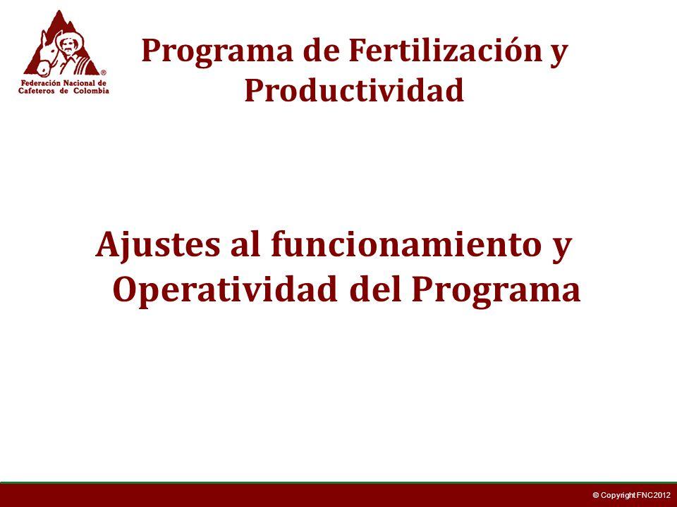 © Copyright FNC 2012 Los cafeteros podrán adquirir su fertilizante a través de este programa hasta el día Sábado 23 de Noviembre de 2013.
