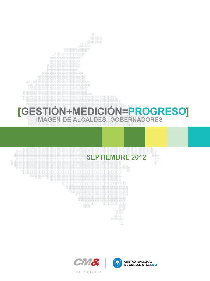 [GESTIÓN+MEDICIÓN=PROGRESO] IMAGEN DE ALCALDES, GOBERNADORES SEPTIEMBRE 2012