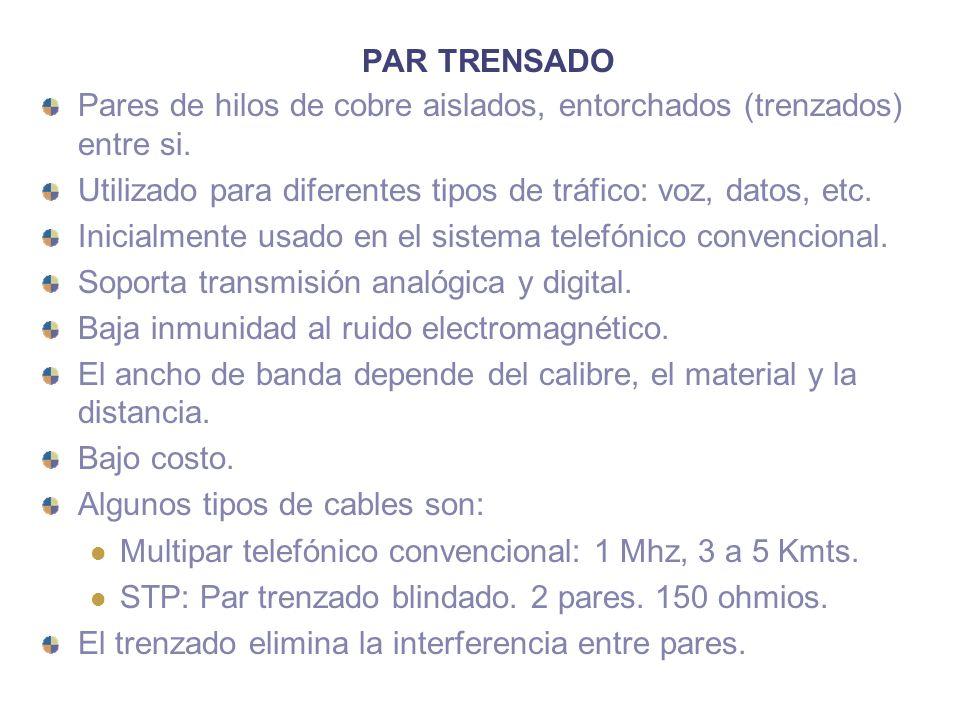 WDM/DWDM WDM (Wavelength Division Multiplexing): similar a FDM solo que el dispositivo es un medio pasivo.