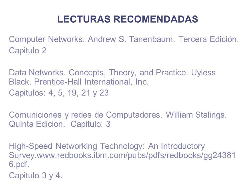 LECTURAS RECOMENDADAS Computer Networks.Andrew S.