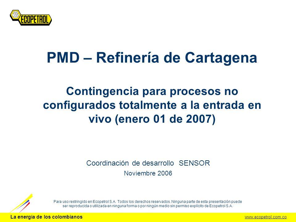 La energía de los colombianos DCI - UDS.2 PMD – Ref.