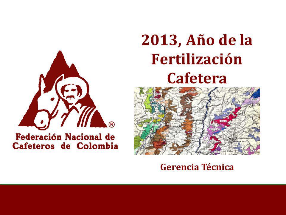 2013, Año de la Fertilización Cafetera Gerencia Técnica