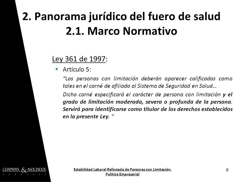 Decreto 2463 de 2001: Artículo 7: Distingue las clases de limitaciones, al establecer: GRADO DE SEVERIDAD DE LA LIMITACIÓN.