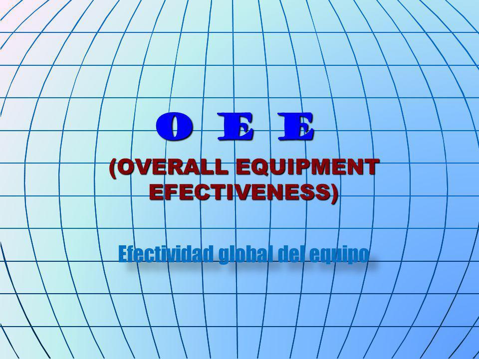 O E E (OVERALL EQUIPMENT EFECTIVENESS) Efectividad global del equipo