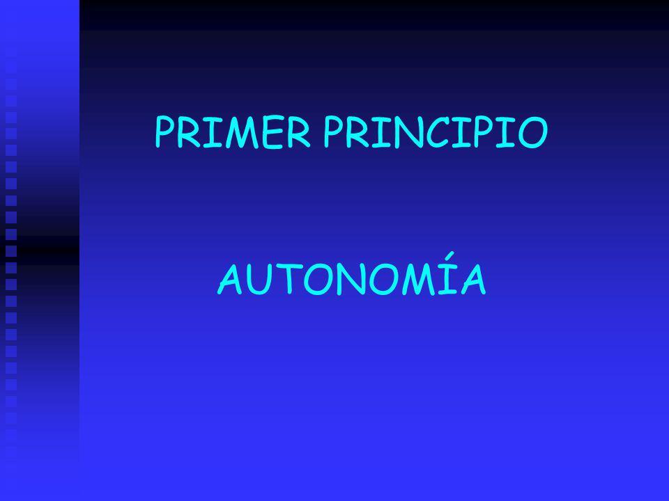 PRIMER PRINCIPIO AUTONOMÍA