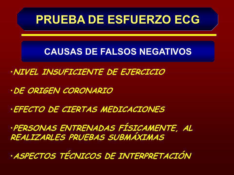 CAUSAS DE FALSOS POSITIVOS ELECTROCARDIOGRÁFICAS EFECTOS DE CIERTAS MEDICACIONES CARDIOPATÍAS HIPERTENSIÓN ARTERIAL ALTERACIONES METABÓLICAS Y ELECTROLÍTICAS ALTERACIONES VASORREGULATORIAS OTROS