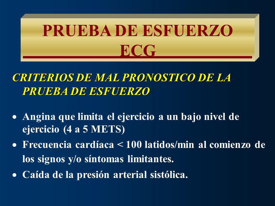 PRUEBA DE ESFUERZO ECG CAUSAS DE FALSOS NEGATIVOS NIVEL INSUFICIENTE DE EJERCICIO DE ORIGEN CORONARIO EFECTO DE CIERTAS MEDICACIONES PERSONAS ENTRENAD