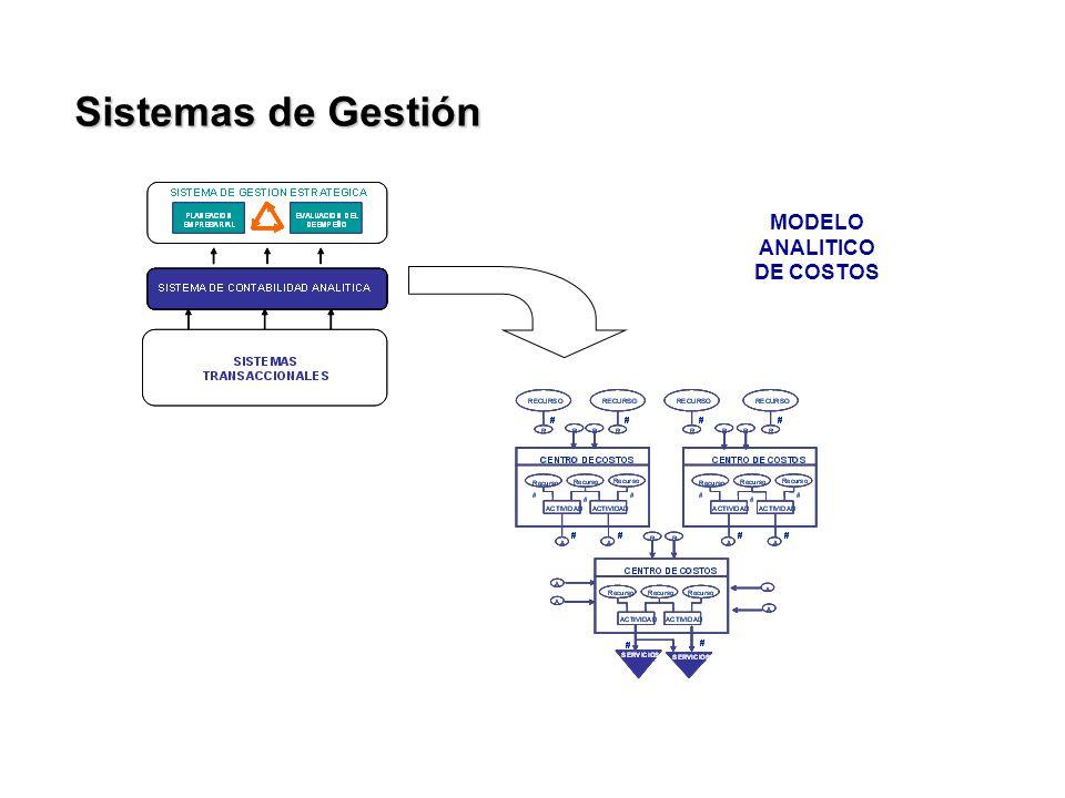 MODELO ANALITICO DE COSTOS Sistemas de Gestión