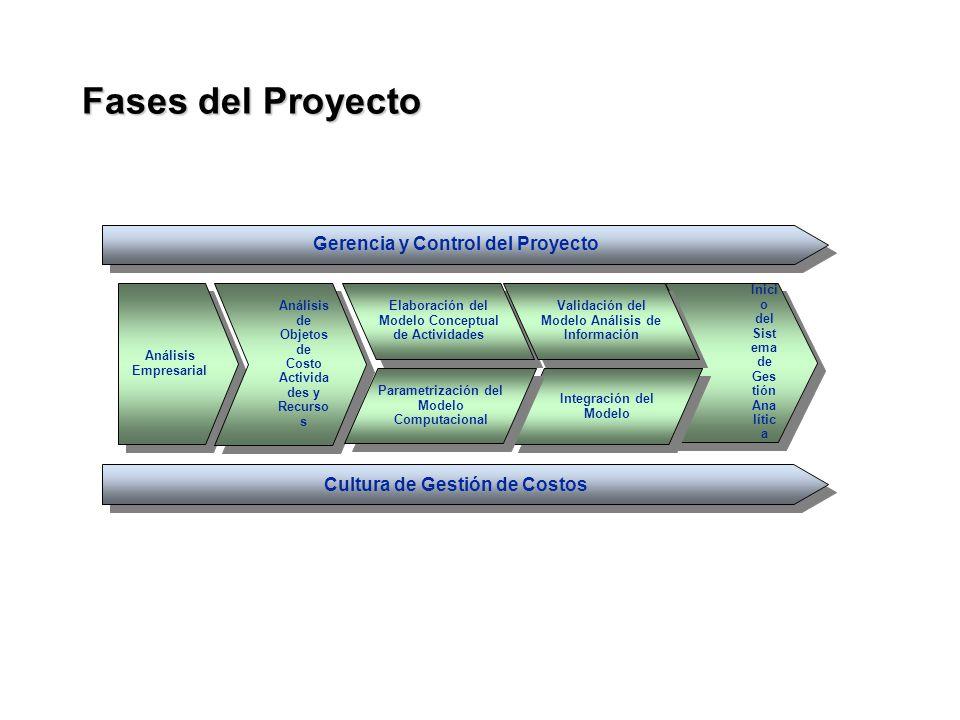Gerencia y Control del Proyecto Cultura de Gestión de Costos Análisis Empresarial Análisis Empresarial Análisis de Objetos de Costo Activida des y Rec