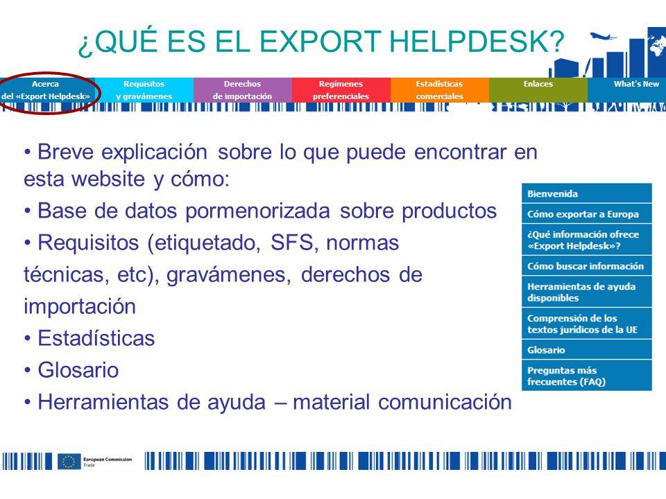 ¿QUÉ ES EL EXPORT HELPDESK.