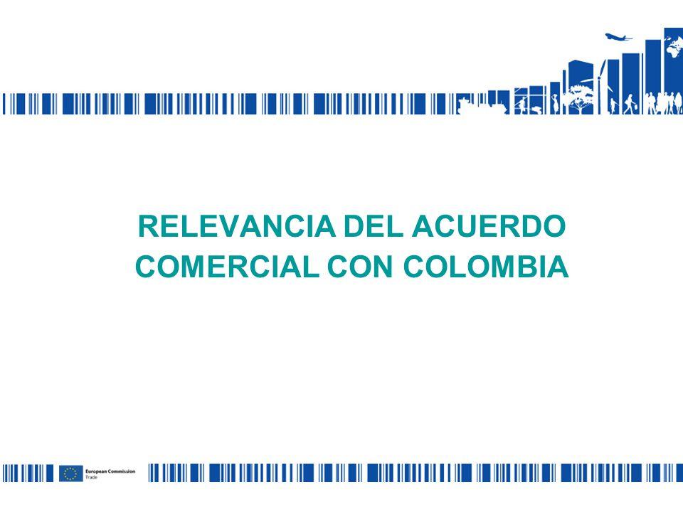 RELEVANCIA DEL ACUERDO COMERCIAL CON COLOMBIA