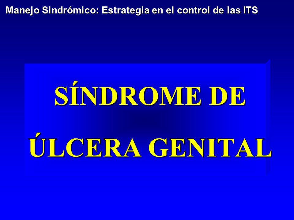 SÍNDROME DE ÚLCERA GENITAL Manejo Sindrómico: Estrategia en el control de las ITS