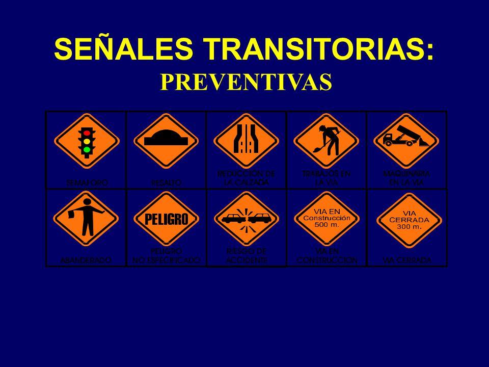 SEÑALES TRANSITORIAS: PREVENTIVAS