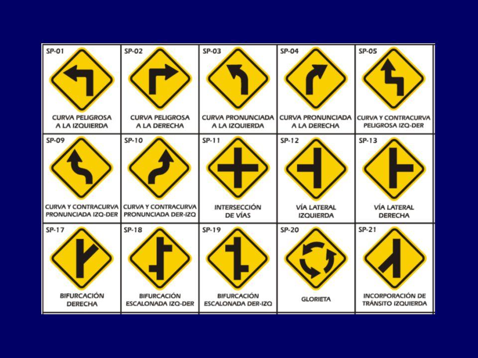 SEÑALES TRANSITORIAS: Estas pueden ser reglamentarias, preventivas o informativas, serán de mayor tamaño y de color naranja si son preventivas o informativas, Modifican transitoriamente el régimen normal de utilización de la vía.