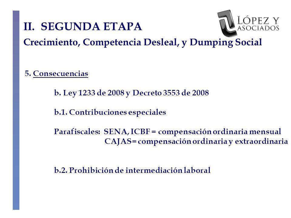 5. Consecuencias b. Ley 1233 de 2008 y Decreto 3553 de 2008 b.1.