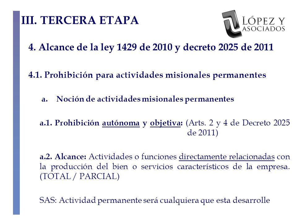 4.Alcance de la ley 1429 de 2010 y decreto 2025 de 2011 4.1.