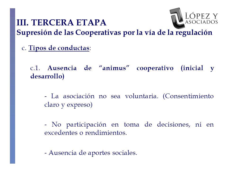 c.Tipos de conductas : c.1.