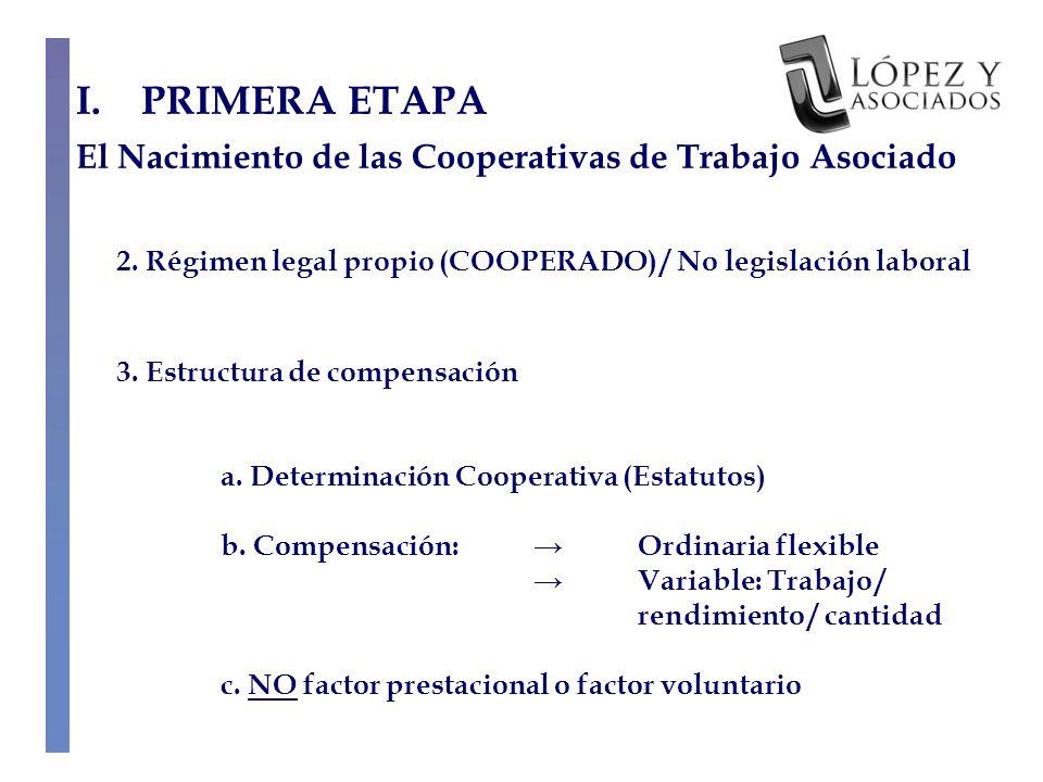 III.TERCERA ETAPA Supresión de las Cooperativas por la vía de la regulación 4.5.