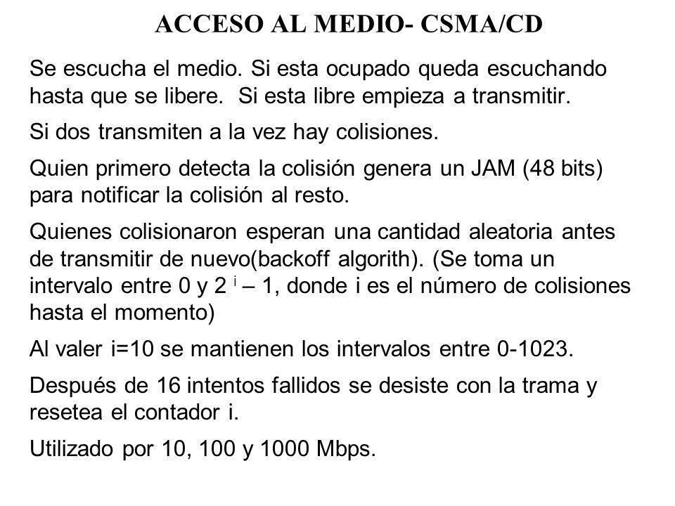 802.3 – MEDIOS FISICOS COAXIAL: –10BASE-2: C/segmento 185 mts.