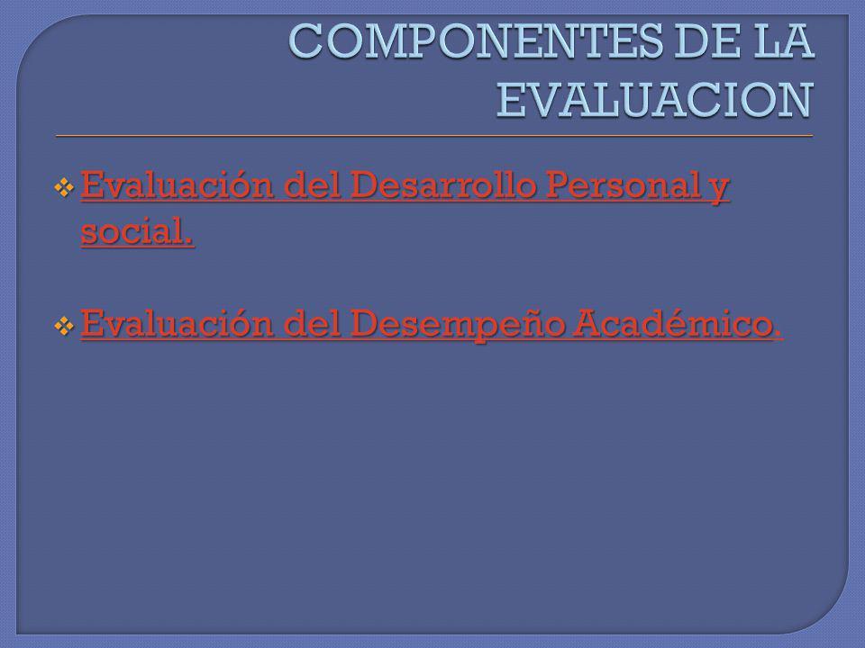 Evaluación del Desarrollo Personal y social. Evaluación del Desarrollo Personal y social. Evaluación del Desarrollo Personal y social. Evaluación del