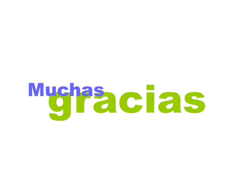 gracias Muchas