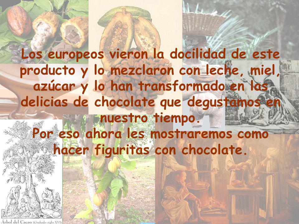 Los europeos vieron la docilidad de este producto y lo mezclaron con leche, miel, azúcar y lo han transformado en las delicias de chocolate que degustamos en nuestro tiempo.