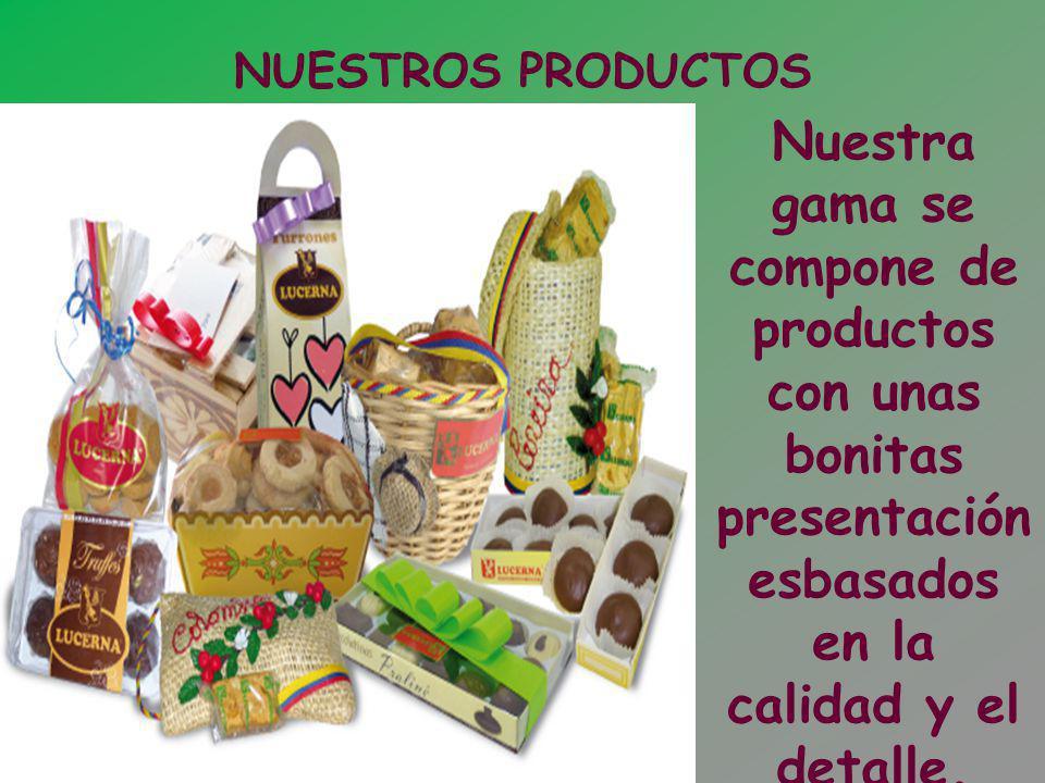 NUESTROS PRODUCTOS Nuestra gama se compone de productos con unas bonitas presentación esbasados en la calidad y el detalle.