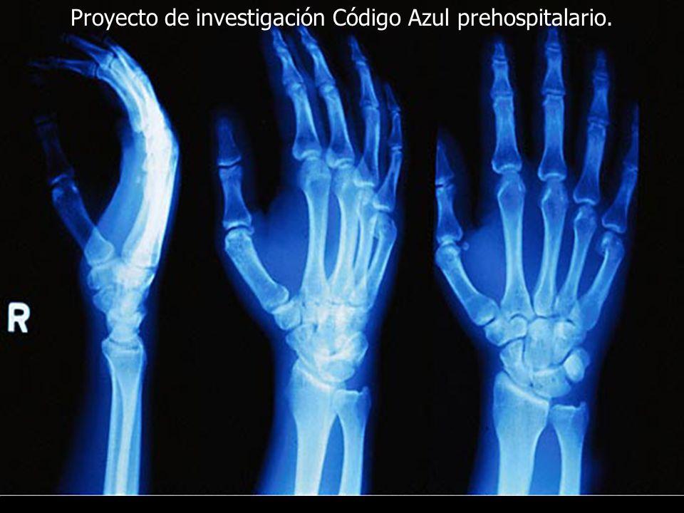 PROYECTO DE INVESTIGACIÓN CÓDIGO AZUL PREHOSPITALARIO Patologías asociadas y no asociadas a paro cardiorespiratorio.