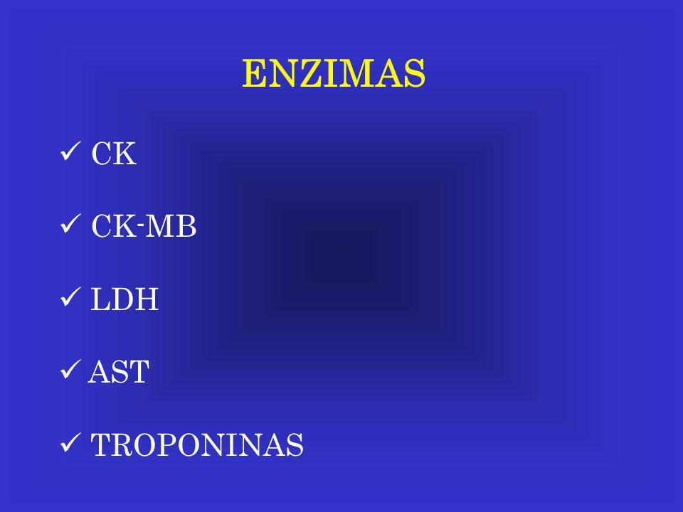 ENZIMAS CK CK-MB LDH AST TROPONINAS