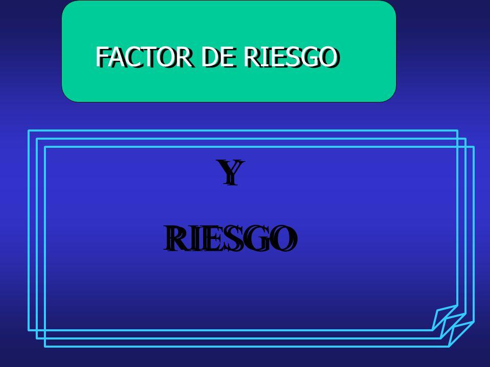 FACTOR DE RIESGO Y RIESGO Y RIESGO