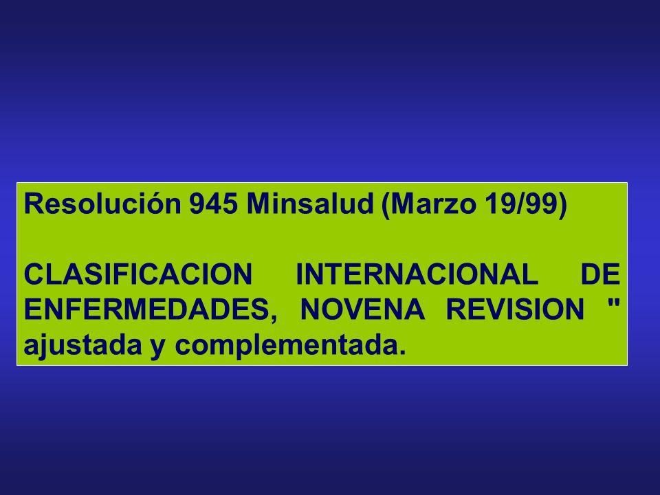 Resolución 1995 Minsalud (Julio 8/99).- Por la cual se establecen normas para el manejo de la Historia Clínica Resolución 1830 MInsalud (Junio23/99).-
