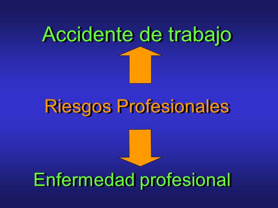 Accidente de trabajo Enfermedad profesional Riesgos Profesionales