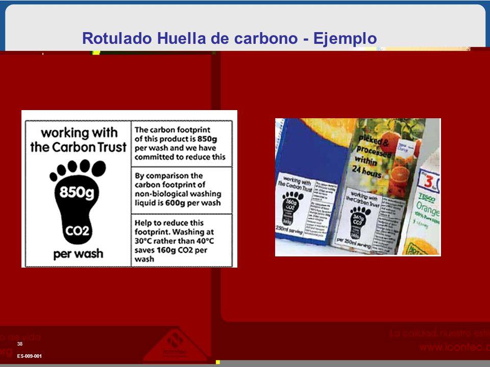 ES-009-001 38 Rotulado Huella de carbono - Ejemplo