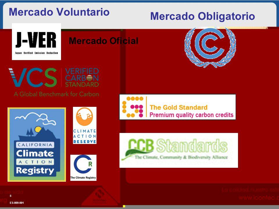 Mercado Voluntario ES-009-001 8 Mercado Obligatorio Mercado Oficial