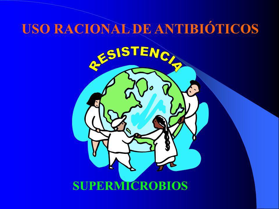 RESISTENCIA PRESIÓN SELECTIVA Manifestaciones de genes de resistencia: i Acción enzimática i Modificación de la permeabilidad i Elimación activa i Alteración del blanco