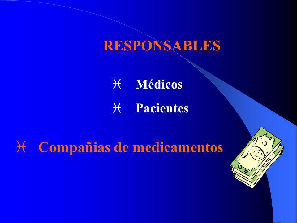 RESPONSABLES i Médicos i Pacientes i Compañias de medicamentos