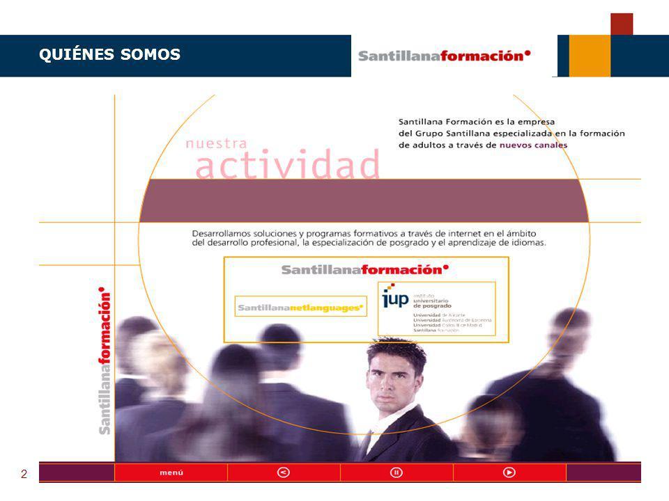 TENDENCIAS ACTUALES EN CAPACITACIÓN Instituto Universitario de Posgrado MÁSTERS ON-LINE PARA PROFESIONALES 2 QUIÉNES SOMOS
