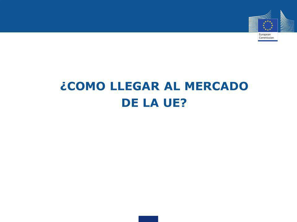 ¿COMO LLEGAR AL MERCADO DE LA UE?