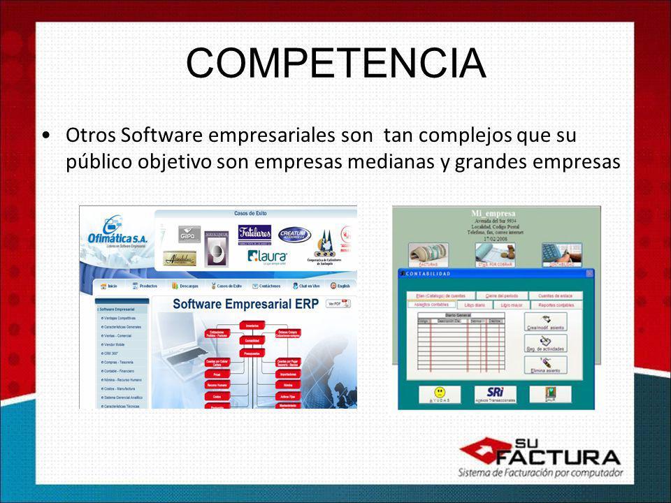 Otros Software empresariales son tan complejos que su público objetivo son empresas medianas y grandes empresas
