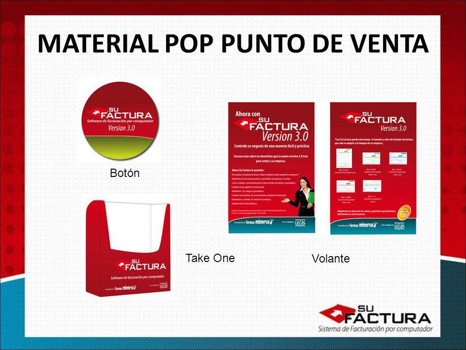 Botón Take One MATERIAL POP PUNTO DE VENTA Volante