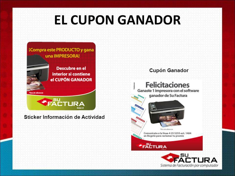 Sticker Información de Actividad Cupón Ganador EL CUPON GANADOR