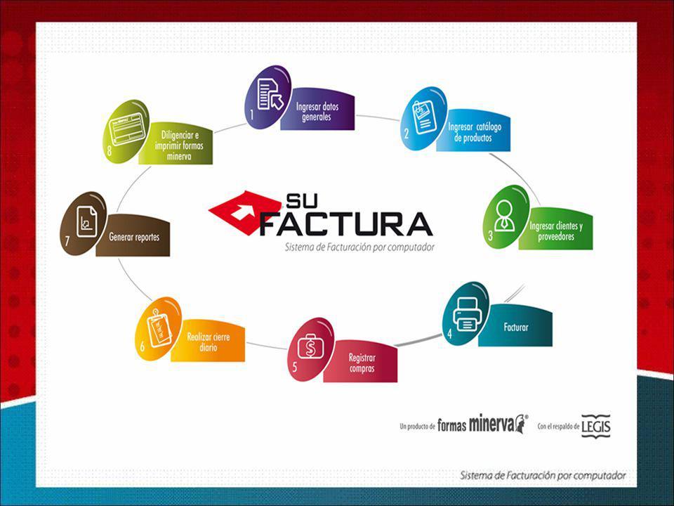 Personalizar formatos de factura Minerva seleccionando logo, numeración consecutiva, datos generales, tributarios, resolución DIAN y consecutivo de Facturación de su empresa.