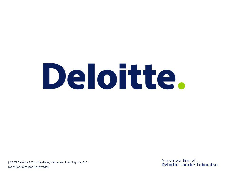 A member firm of Deloitte Touche Tohmatsu ©2005 Deloitte & Touche/Galaz, Yamazaki, Ruiz Urquiza, S.C. Todos los Derechos Reservados