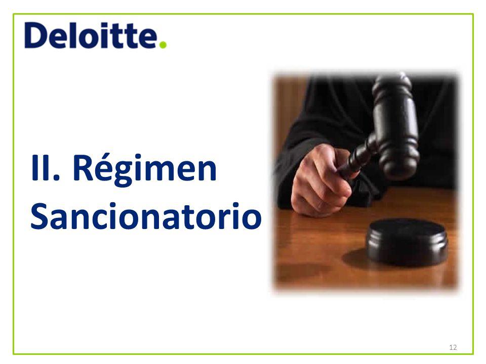 II. Régimen Sancionatorio 12